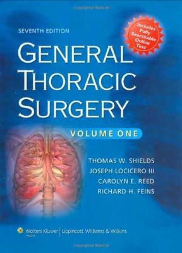 GENERAL THORACIC SURGERY 2Vols.