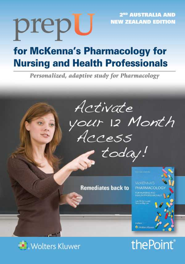 PrepU for McKenna's Pharmacology for Nursing and Health Professionals Australi